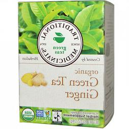 Traditional Medicinals Green Teas Organic Green Tea With Gin