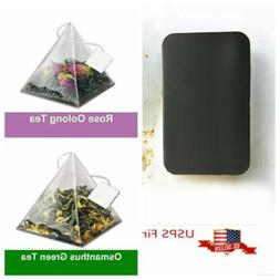Gui Hua Osmanthus Green Tea / Rose Oolong Tea Pyramid Tea Ba