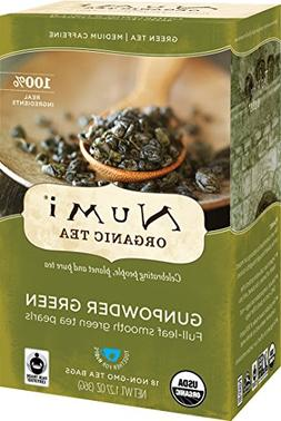 Numi Organic Tea Gunpowder Green, 18 Bags, Box of Traditiona