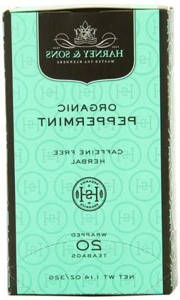 Harney and Sons Premium Tea Bags, Organic Peppermint, 20 Cou