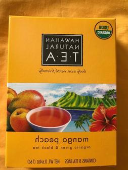 Hawaiian Natural Tea Organic Mango Peach flavor green &bla
