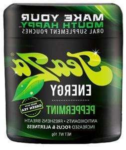 TeaZa Herbal Energy Pouch Peppermint 1ct Viter Lyft Caffeine