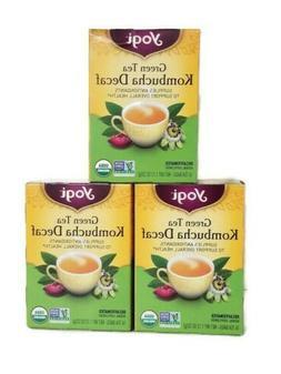 Yogi Herbal Tea, Green Tea Kombucha Decaf 16 ea