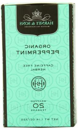 Harney & Sons Premium Organic Peppermint Herbal Tea, 20 Tea