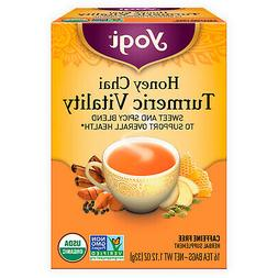 Yogi Tea - Honey Chai Turmeric Vitality - Sweet and Spicy Bl
