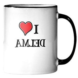 I heart DELMA! Parody 11oz Coffee Tea Ceramic Mug Love Gift