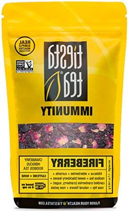 Tiesta Tea Fireberry, Cranberry Hibiscus Rooibos Tea, 30 Ser