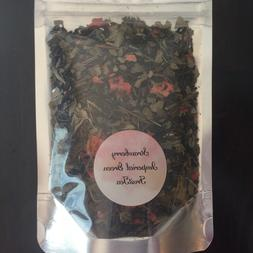 Imperial Green Strawberry Tea- Organic Small Batch Loose Lea