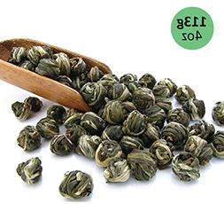 tealyra Imperial Jasmine Dragon Pearls Green Tea Loose Leaf,