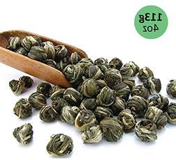 Tealyra - Imperial Jasmine Dragon Pearls - Loose Leaf Green