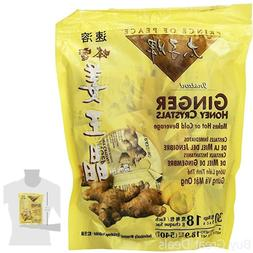 Instant Ginger Honey Crystals Pack of 30 Bags 18g Sachets Ho
