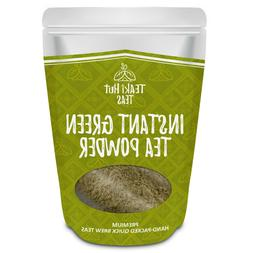TEAki Hut Instant Green Tea Powder 4oz  | Mixes With Hot Or
