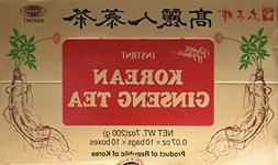 instant korean panax ginseng tea 100 count