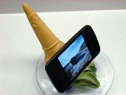 Japanese Fake Food Soft Ice Cream Serve Smartphone Stand Hol