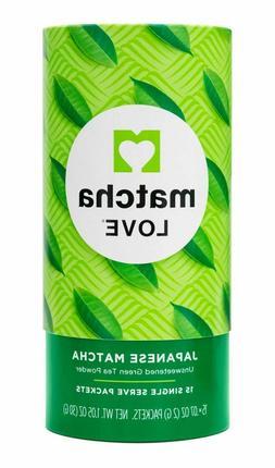 Matcha Love Japanese Matcha Unsweetened Green Tea Powder, 15