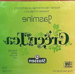 Stassen, Jasmine Green Tea, 100 Tea Bags, Quality #1