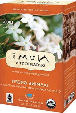 Numi Organic Tea Jasmine Green,  18 Bags Per Box , Classic G