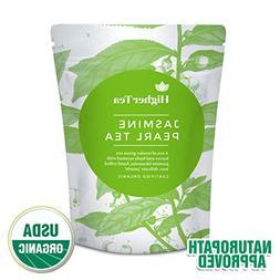 Jasmine Pearl Tea - beautiful hand-rolled jasmine leaves inf