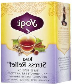 Yogi Tea Kava Stress Relief, Herbal Supplement, Tea Bags, 16