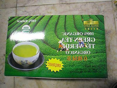 New 100 BAGS ROYAL KING ORGANIC GREEN TEA USDA CERTIFIED CHI