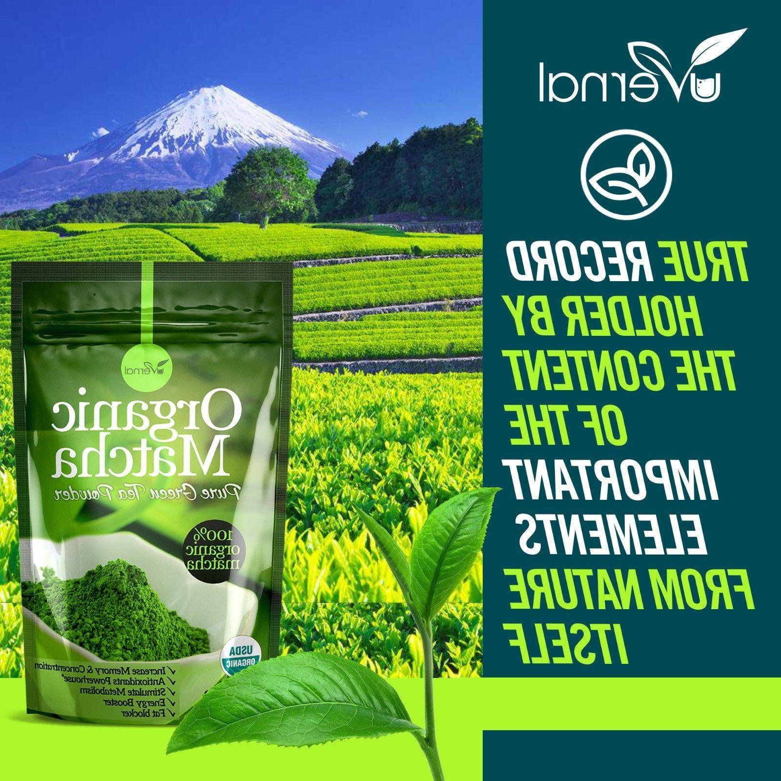 ▶▶▶100% MATCHA POWDER Unsweetened Pure Green Tea Natural Culinary Grade