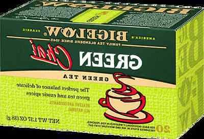 2 Boxes Bigelow Green Chai Tea - 40 Tea Bags Total