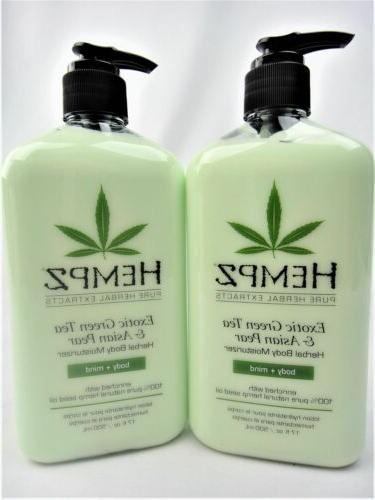 2 Hempz Exotic Green Tea And Asian Pear Herbal Moisturizer L