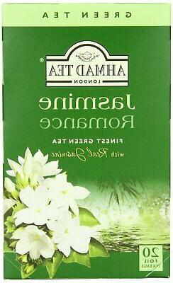 Ahmad Tea - Jasmine Romance Flavoured Green Tea 20 Bags - 40