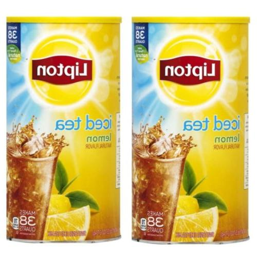 2pack lemon iced tea with sugar mix