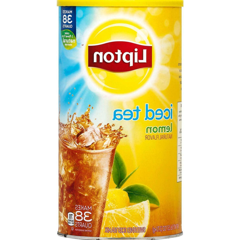2PACK Lipton Lemon Iced Tea with Sugar Mix