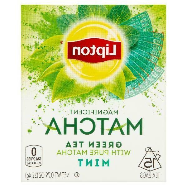 Lipton Magnificent Matcha Green Tea Bags Mint 15 Ct