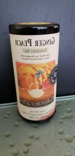 The Republic of Tea Ginger Peach Black Tea, Caffeinated