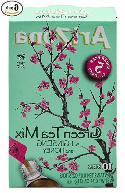 arizona green tea with ginseng sugar free