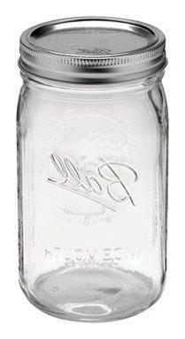 Ball Mason Jars Wide Mouth 1qt Size - Case of 12
