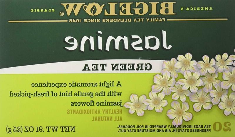 bigelow jasmine green tea bags 20 ct