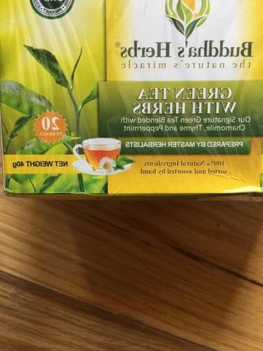 Buddha's Green Tea With Herbs 80 New