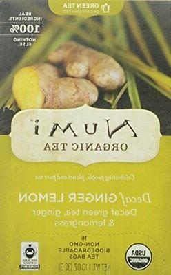 Decaf Ginger Lemon Tea Numi Teas 16 Bag