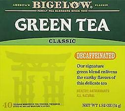 Bigelow Decaffeinated Green Tea, 40-Count Boxes