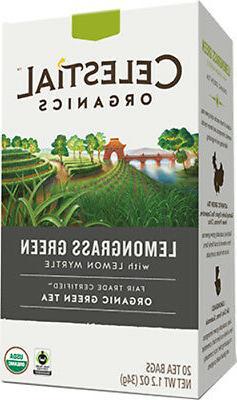 Fair Trade Organic Lemongrass Green Tea, Celestial Seasoning