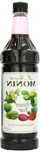 Monin Flavored Syrup, Desert Pear, 33.8-Ounce Plastic Bottle