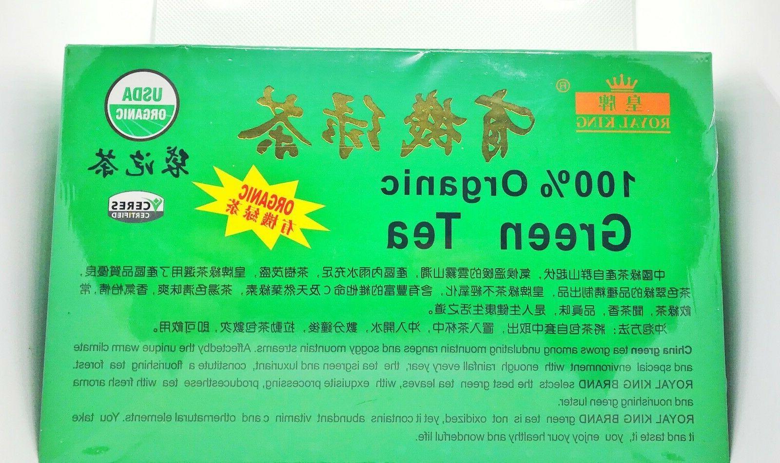 FRESH 100% Organic Green Tea Certified bags.