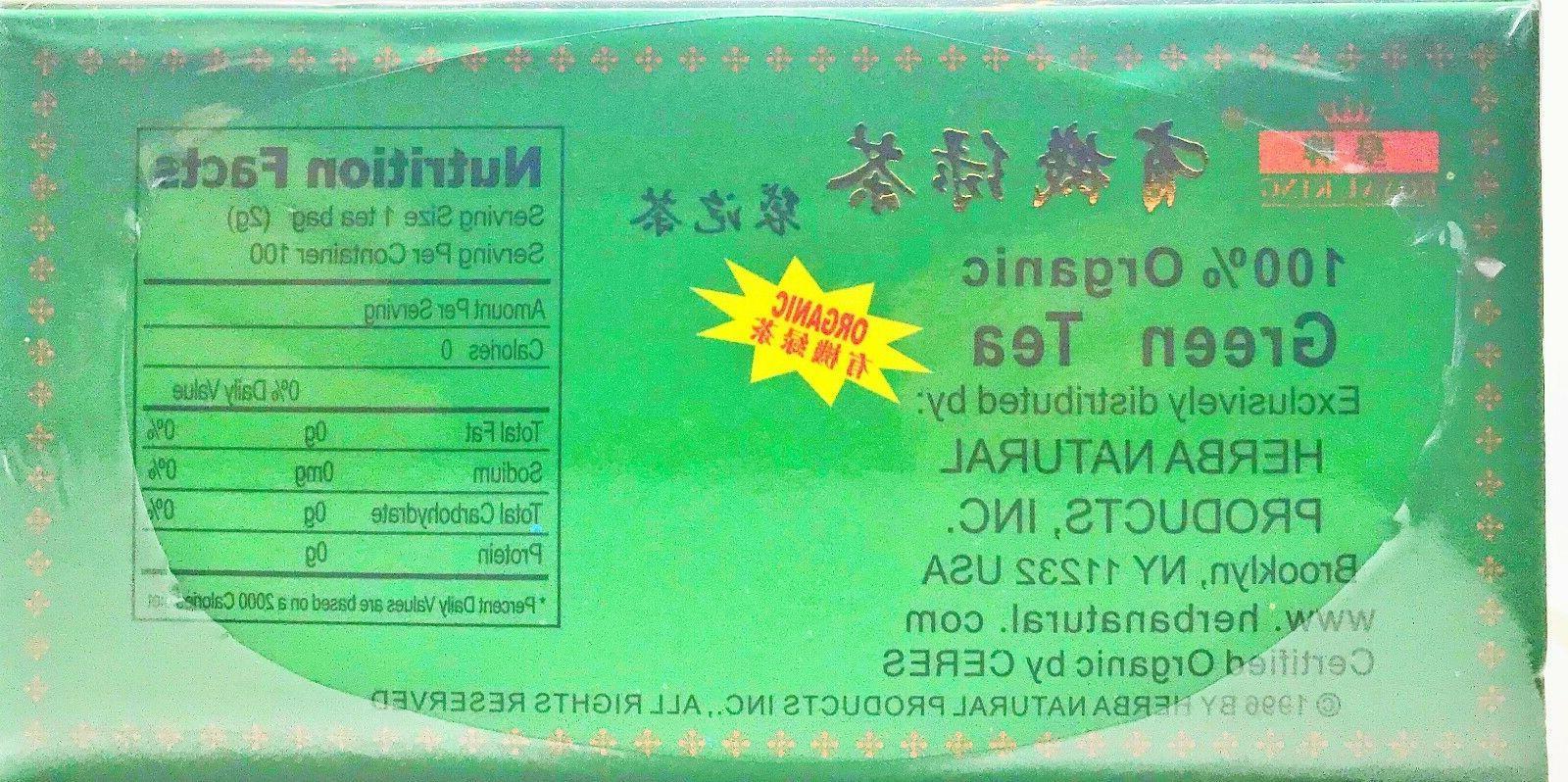 FRESH Organic Chinese Tea bags.