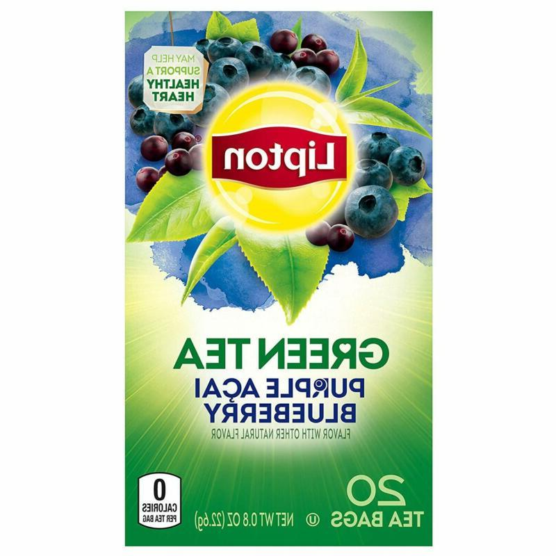 Lipton Bags, Purple Acai Blueberry, 20 ct