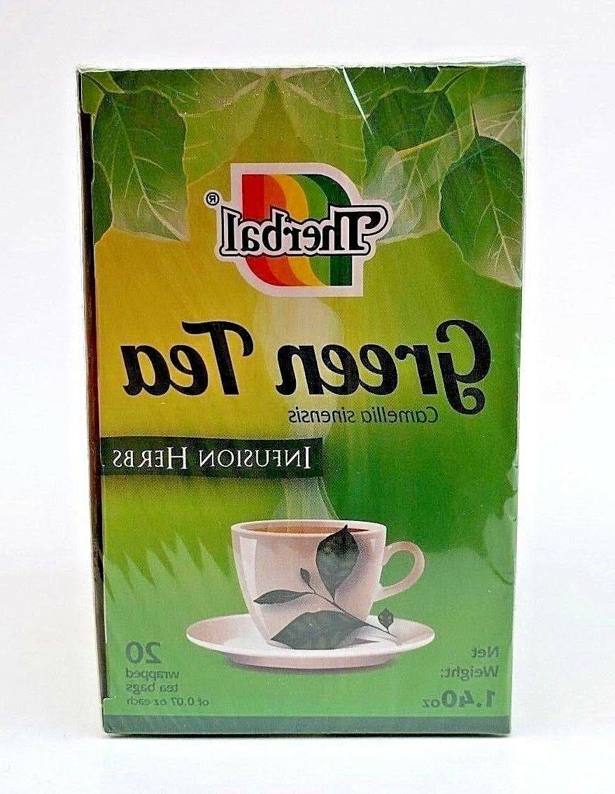 GREEN TEA TE VERDE TEA BAGS