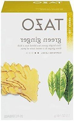 Tazo Green Tea Ginger -- 20 Tea Bags - 2 pc