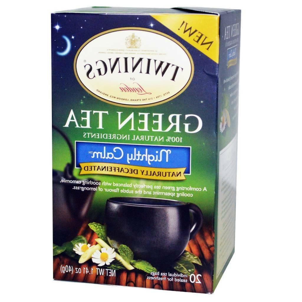 green tea nightly calm decaffeinated 20 tea