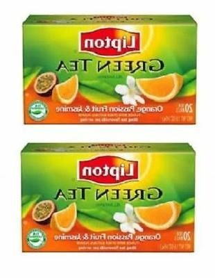 Lipton Green Tea Orange Passionfruit Jasmine Tea Bags 2 Box