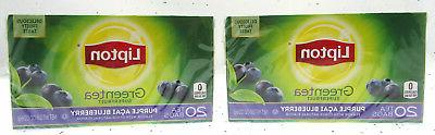 Lipton Green Tea Purple Acai Blueberry Tea Bags 2 Box Pack