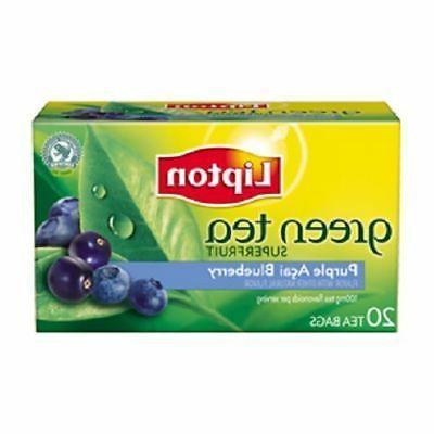 green tea purple acai blueberry tea bags
