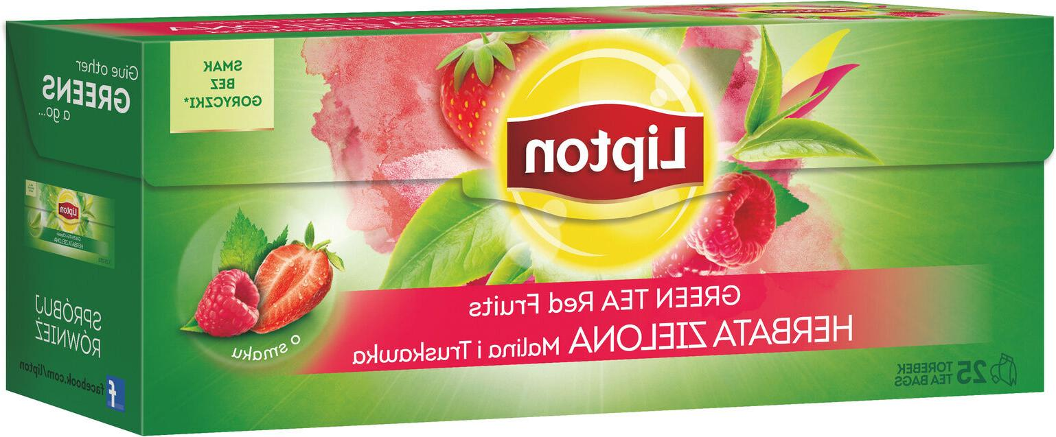 green tea red fruits strawberry and raspberry